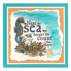Stamp-it Australia: 4879E Near the Sea - Card by Susan