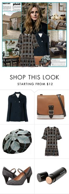 """""""What's Hot! Plaid"""" by kittyfantastica ❤ liked on Polyvore featuring Valentino, Burberry, Markus Lupfer, Naturalizer and Beauty Is Life"""