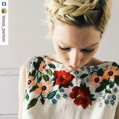 @tessa_perlow #broderie #ricamo #embroidery #bordado #embroideryflower #spring