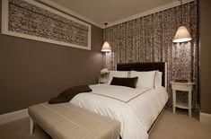 Schlafzimmer einrichten beige braune farben Keller