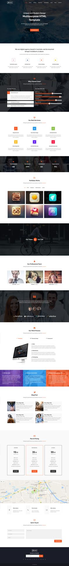 Best One Page Website Templates Images On Pinterest - E portfolio templates