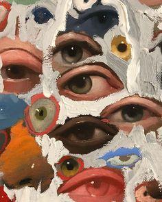 Abstract Eyes By Emilio Villalba - Painting Art Inspo, Art Du Collage, Painting Collage, Collage Ideas, Art Paintings, Wall Collage, Posca Art, Arte Sketchbook, Sketchbook Layout