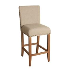 Shop for HomePop 29-inch Bar Height Tan Upholstered Barstool. Get free shipping at Overstock.com - Your Online Furniture Outlet Store! Get 5% in rewards with Club O!