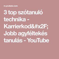 3 top szótanuló technika - Karrierkod/ Jobb agyféltekés tanulás - YouTube