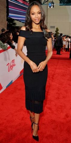 Look of the Day - Zoe Saldana - from InStyle.com-Simple and exquisite