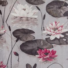 Hertex Collections These lily pads look quite tropical maybe due to the vibrant pink used. I really like the use of tone here. Shape Design, Pattern Design, Grey Home Decor, Lily Pad, Pretty Patterns, Dusty Pink, Textures Patterns, Koi, Art Photography