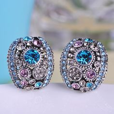 Vintage Luxurious Antisilver Plated Crystal Sapphire Pink Stainless Ugi From India Oso Croche Brincos Pequenos Joyas Bijuterias Oh YeahVisit our store --->  http://www.jewelryabo.com/product/vintage-luxurious-antisilver-plated-crystal-sapphire-pink-stainless-ugi-from-india-oso-croche-brincos-pequenos-joyas-bijuterias/ #shop #beauty #Woman's fashion #Products #homemade