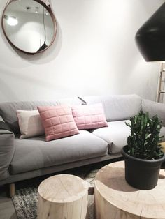 Muuto / Soft Grid Pillow and Rest Sofa / Living Room