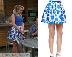 Young & Hungry: Season 2 Episode 14 Gabi's Blue Floral Skirt