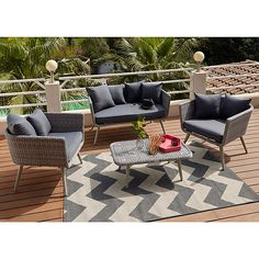 Salon de jardin en rotin, Collection Soron - CASTORAMA | Home ...