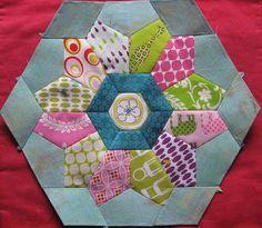 english paper piecing - 1/3 hexagons