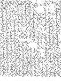 Interruptions, plotter drawing, Vera Molnar, 1969. Museum no. E.269-2011 © Victoria and Albert Museum, London/ Vera Molnar