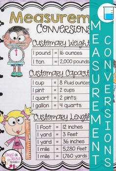 Practice measurement conversion metric and customary with these engaging activities for Fourth Grade math. Great idea for grade math centers, math stations and enrichment activities . Metric Conversion Chart, Measurement Conversions, Math Charts, Math Anchor Charts, Fifth Grade Math, Fourth Grade, Math Stations, Math Centers, Measurement Worksheets