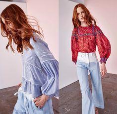 04c8767b2116 Ulla Johnson 2017 Resort Cruise Pre-Spring Womens Lookbook Presentation -  Ombre Denim Jeans Vintage