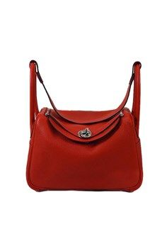 4b213f6130e5 HERMES Shoulderbag Lindy 26 Rouge Casaque Taurillon Clemence SHW Brand  new  Authentic