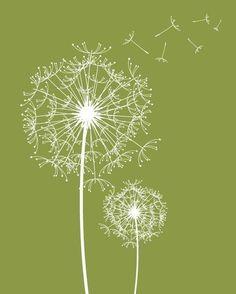 Modern Wall Decor Prints Dandelions Modern Flowers by fancyprints, $48.00