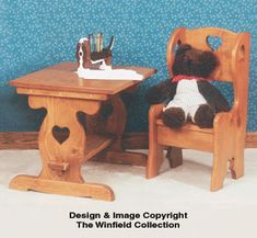 Winfield KF5 child's Table and Chairs wood furniture craft pattern The Pattern Hutch