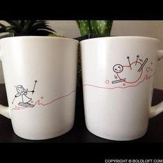 Fallen for You™ Couple Coffee Mugs