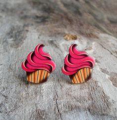 Cupcake Tattoo Earrings by PrettyInInkJewelry on Etsy, $9.95