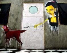 Stereoflow, Wheatpasting desde Indonesia : Distorsion Urbana