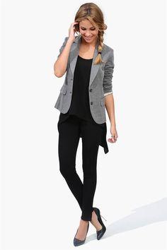 Cute grey blazer.