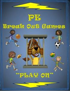 """PE Breakout Games for Small Groups! """"Play On"""""""