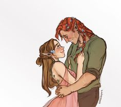 """I've been stressed out lately so I've been reading some ACOMAF fanfiction with Elain and Lucien. :) I was largely inspired by @sarahviehmann's """"Blooming"""" and @valamerys's """"A Green and Growing Thing""""! Their writing is beautiful, please go check them..."""