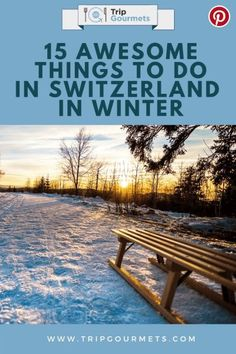 One of the best seasons in Switzerland is definitely winter. Especially when there a thick layer of snow covering the country! One of the reasons to love this time of year so much is because there are so many things to do in Switzerland in winter. The fol