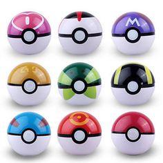 9pcs ABS Pokemon Pokeball Cosplay Pop-up Poke Ball Fun Toys Gift Kid 7cm | eBay