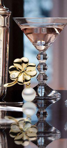 baccarat glass + Mikimoto