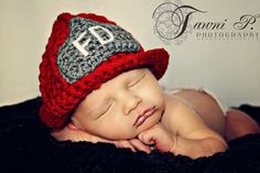 Baby firefighter hat