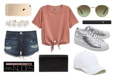 """""""Spring #ootd #potd"""" by dorienvdm ❤ liked on Polyvore featuring 3x1, Humble Chic, adidas Originals, Ray-Ban, Lancôme, Charlotte Russe, Yves Saint Laurent and Sole Society"""