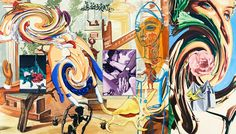 """David Salle American), """"Helena at 5 A."""", Oil on Canvas, Modern Art, Contemporary Art, Amazing Paintings, Encaustic Art, Historical Images, Outsider Art, David, Sculpture Art, Art History"""