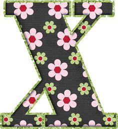 .Alfabeto de florecitas rosas ...De  Eduarda Cavalcanti ...X