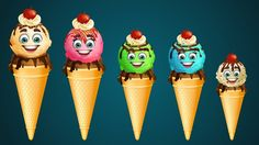 Nursery Rhymes For Children | Ice Cream Finger Family Song Collection | ...