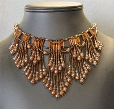 Instructions to create Double Fringed Choker - Beading Instructions
