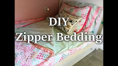 DIY Zipper Bedding (using sheets and blankets you already have) Zip Up Bedding, Rv Bedding, Beddys Bedding, Boho Bedding, Bedding Storage, Neutral Bedding, Diy Bed Covers, Sewing For Kids, Diy For Kids