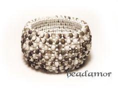 beaded bracelet Bogna free shipping worldwide by Beadamor on Etsy