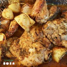 Pollo con especias al horno