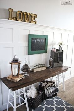 This rustic entryway look is easy to achieve with these cute and affordable BHG at Walmart items.