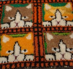 Small rug made from remnant wool.