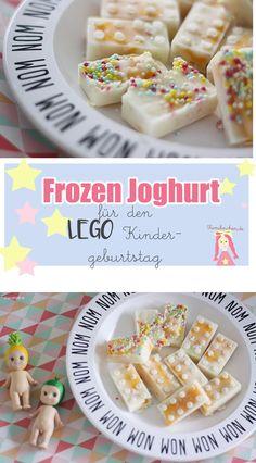 DIY Frozen Jogurt in Bausteineform, Häppchen / Finger Food für den LEGO Geburtstag
