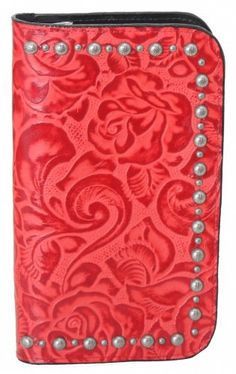 72f92d8c8299 Red Floral Clutch Organizer by Double J Saddlery NOW at wheelers feed in  boerne. Small