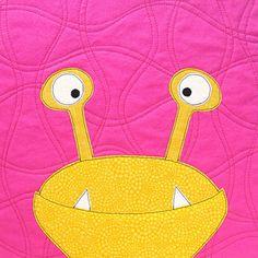 Mix + Match Monsters Tutorial + Pattern by Sew Mama Sew  #Applique, #DIYCrafts, #FeaturedPost, #Halloween, #Kids, #Quilting, #QuiltsBlocks, #SewingTutorialsPatterns, #SewingWithKids