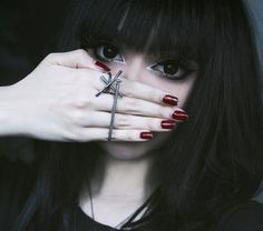 Shh! Her eyes want to say something! Insanely gorgeous #Wylona_Hayashi modeling our #Nail #Ring*