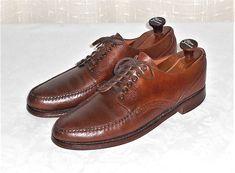 Daniel Forbes Vtg Kentucky Walker Leather V Cleat Oxford Made in USA Men's 10 B  #DanielForbes #Oxfords