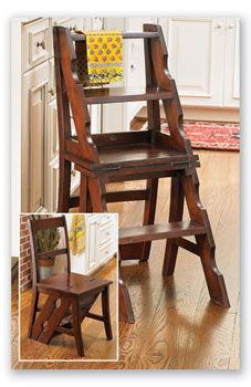 library ladder with book lift Library Chair, Library Ladder, Convertible Furniture, Home Libraries, Stack Of Books, Bunk Beds, Dining Chairs, Shelves, Pantry