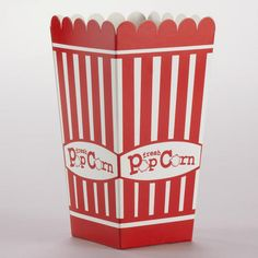 WorldMarket.com: Small Popcorn Boxes, Set of 12 for $4.99. Cute for your movie night party.
