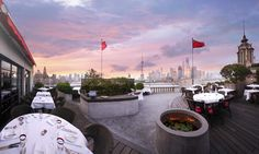 M on the Bund restaurant - Great brunch, wonderful service, fantastic views of the Bund, and oh, lovely cutlery too.