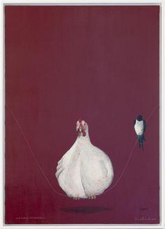 L'uccello migratore Acrilico su tela 70x100